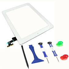 Original iPad 2 2nd Gen A1395 Touch Screen Digitizer Front Glass + Tools White