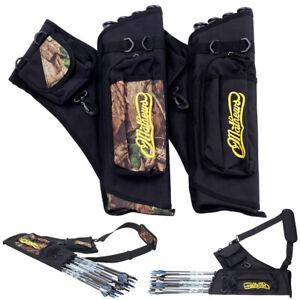 4-Tube Archery Arrow Back Quiver Bag Hunting Arrow Organiser Bow Waist Pouch