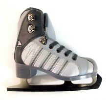Jackson RS3651 Figure Ice Skates CHARCOAL/GRAY Sz 2 girls Ex LACE & FOOTBEDS []