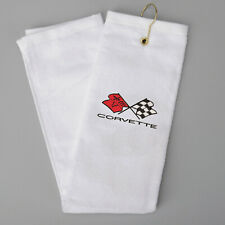 "CORVETTE Golf Towel Or Hand Towel w/ C3 Logo 16"" x 26"" - WHITE 698794882"