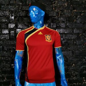 Spain Team Jersey Home shirt 2009 - 2010 Red Adidas P06574 Trikot Mens Size S