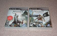 ASSASSIN'S CREED III & IV (BLACK FLAG ) playstation 3 lot of PS3 games RATED M