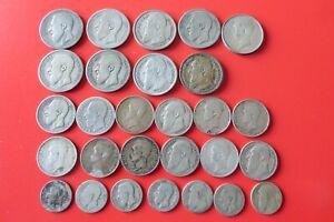 BELGIQUE - Lot monnaies en argent