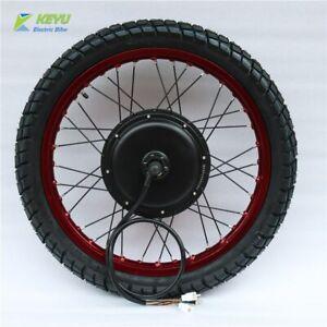 72V 60V 1500W 3000W 5000w Hub Motor Wheel Tyre Front Wheel Kit Tire For Ebike UK