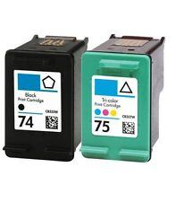 2PK #74 #75 Ink Cartridge for HP Officejet J5790 J6410 J6415 J6450 J6480 J6488