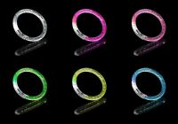 10 LED Light Up Flashing Bubble Bracelet Bangle Party Wristband Colourful Glow