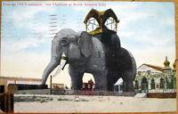 1910 Atlantic City, NJ Postcard: Elephant Hotel - New Jersey