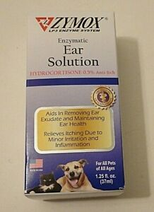 Enzymatic Relieves Itching & Removing Ear Exudate Zymox Ear Solution Dog Or Cat
