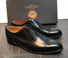 Men's - Cheaney - Fenchurch - Oxford Toecap Black Calf Leather Shoes - UK 9.5