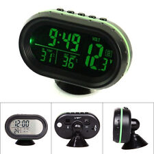 LCD Digital Auto Car Cigarette Lighter Thermometer Voltage Meter Monitor Clock