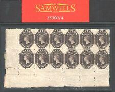 More details for ceylon qv classic sg.69b 9d (1867) block of twelve mint lmm/mnh** {ex gem} ss14
