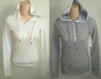 Womens AEROPOSTALE Hooded Waffle Knit Thermal Henley size XS NWT #9517