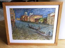 Gondoliere von Venedig. Unsigniert. Ca. 1960/70. Top.