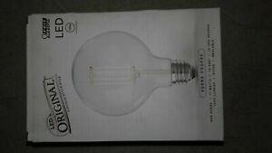 Feit Electric 100-Watt Equivalent G40 Clear Glass E26 LED Light Bulb, Soft White