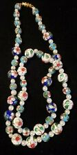Beautiful Vintage Blue/White Cloisonne Beaded Necklace