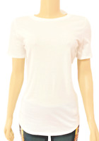 Victorias Secret PINK Everyday Solid Crew-Neck Tee T-Shirt Top White