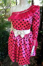 Kinder Mädchen Kostüm/Kleid Fasching Pink/Rosa Gr.146-164 - 1950/60er
