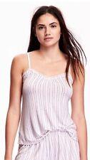 NWT Old Navy Women's Plus Size Lace Trim Pink Stripe Cami Sleepwear size 2X