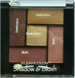 KLEANCOLOR SHADOW & BLUSH COMBO AST NEUTRAL COLORS #361 FREE SHIPPING USA HTF