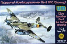 PETLYAKOV Pe-2 SERIE 13(ILMAVOIMAT / FINNISH AF MKGS)#102 1/72 UNIMODELS/UM RARE