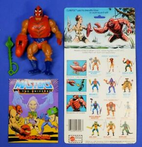 MASTERS OF THE UNIVERSE CLAWFUL COMPLETE VINTAGE FIGURE W/CARDBACK + COMIC 1983
