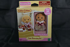 New In Box Retired Calico Critters Sylvanian Famlies Cc1740 Cake Decorating Set