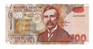 New Zealand  1992 $100 Bank Note--Brash
