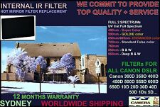 Canon 350D Infrared IR filter hot mirror replacement 590nm ; 850nm Black n White