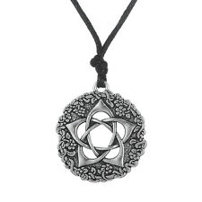 Star Rose Pentacle Of The Goddess Wicca Charm Necklace Pagan Supernatural Amulet