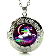 Unicorn Horse Rainbow Locket Pendant and Necklace Gift Boxed Fast Shipping