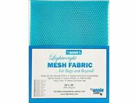 By Annie Light weight Mesh Fabric 18 x 54-inch 100% Polyester Parrot Blue