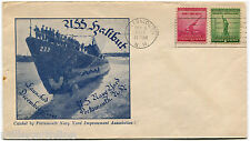 USA, COVER USS HALIBUT, ANNUL PORTSMOUTH, NH, 1941, STAMP C2 + C1              m