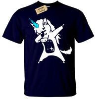 Dabbing Unicorn T-Shirt Top dab Mens