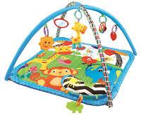 Baby Playmat Musical Safari Activity Play Mat With Fun Sensory Toys & Pillow
