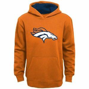 Denver Broncos Youth Boys Primary Logo Pullover Hoody Sweatshirt - Orange