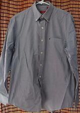men's IZOD blue striped long sleeve dress shirt size M