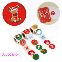Party Supplies Elk Xmas Tree Tag Package Label Kraft Stickers Merry Christmas