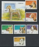 Benin 1995 Dogs set and MS  Sc 741-747. Complete  Mint Never  Hinged