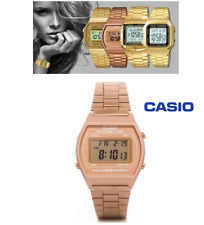 Casio Unisex Watch Rose Gold Stainless Steel 50M Illuminator Quartz
