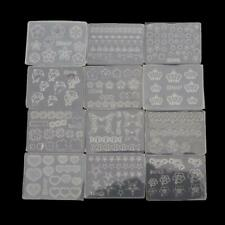12Pc Mini Nail Art Silicone Mold Leaves Flower Animals Template Resin Molds Kit