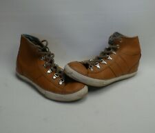 Converse Chuck Taylor All Star Hi Top Trainers Brown Leather UK 5.5 100% Genuine