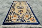 Authentic Hand Knotted Vintage Tibet Wool Area Rug 5 x 2 Ft (11582 KBN)