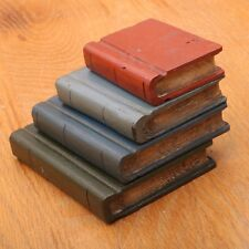 Vintage Decorative Wood Books Decor