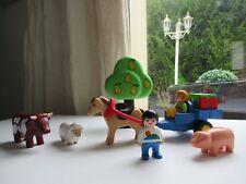👿 Jeu De Construction Enfants, Charrette, Animaux, Playmobil 123 Réf: 6620