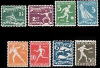 Netherlands 1928 OLYMPIC GAMES SET MNH #B25-B32 crease in no. B29 (cv $9.00) ...