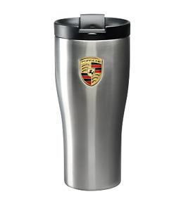 Original Porsche Thermobecher Edelstahl silber, Coffee to go Becher, WAP0500640H