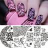BORN PRETTY Nail Art Stamping Plates Lace Rose Flower Queen Nail Image Templates