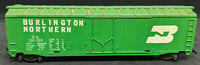 Burlington Northern BN 100024 GREEN Box Car.  HO SCALE. MADE IN USA VINTAGE
