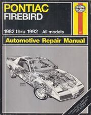 Pontiac Firebird incluye Trans Am & S/E 4-CYL V6 V8 (1982-92) Manual de reparación de los propietarios
