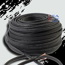 16GA Gauge 100FT BLACK OFC 100% Copper Marine Car Home Audio Speaker Cable Wire